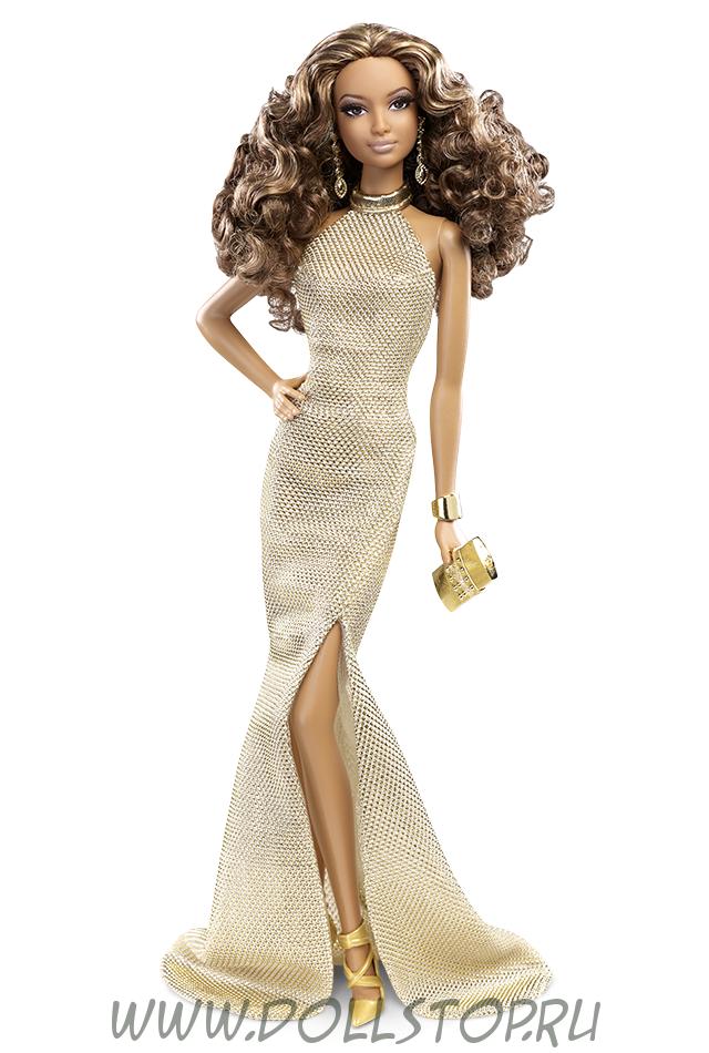 Коллекционная кукла Барби Золотое вечернее платье - The Barbie Look Collection, Red Carpet - Gold Gown