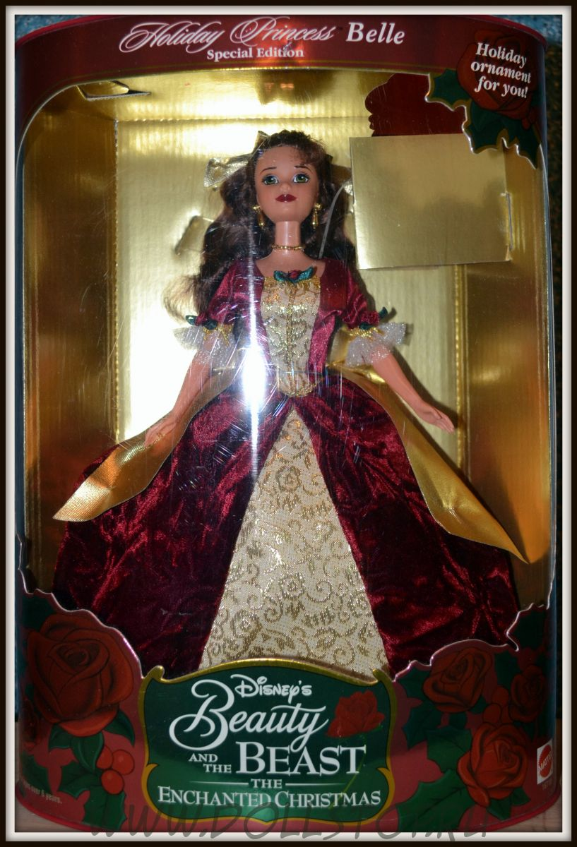 Коллекционная кукла  Белль как Праздничная  Принцесса -  Belle Holiday Princess, 2d in a Series, Walt Disney's